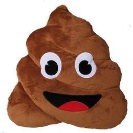Plüss kaki emoji - Poop emoji párna, mérete 45 cm