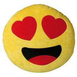 Plüss Emoji Párna - Szerelmes Smile