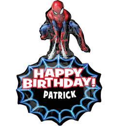 Pókember - Spiderman Feliratozható Szülinapi Super Shape Fólia Lufi