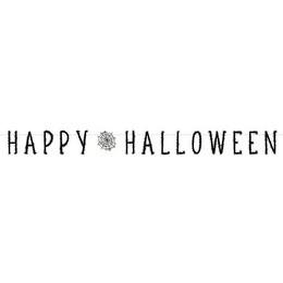 Pókháló Mintás Parti Betűfüzér Halloween-ra