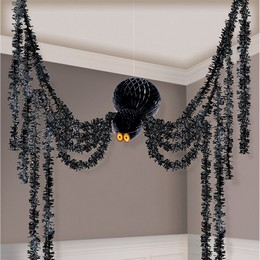Pókos Függő Parti Dekoráció Halloween-re