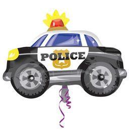 Police Car - Rendőrautó Fólia Lufi