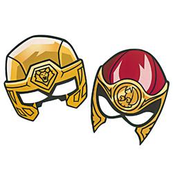 Power Rangers Parti Álarc - 6 db-os