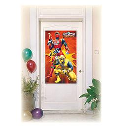 Power Rangers Ajtódekoráció