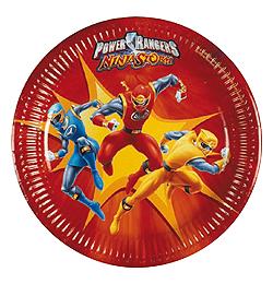 Power Rangers Tányér - 23 cm, 10 db