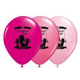 11 inch-es Pózolós Lánybúcsú Party! Assorted Feketével Lufi (6 db/csomag)