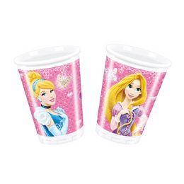 Princess Glamour - Hercegnők Parti Pohár - 200 ml, 8 db-os
