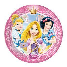 Princess Glamour - Hercegnők Parti Tányér - 20 cm, 8 db-os