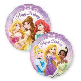 17 inch-es Princess Happy Birthday - Hercegnők Szülinapi Héliumos Fólia Lufi