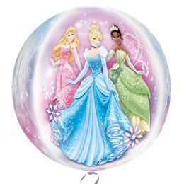 Princess - Hercegnők Ultra Shape Orbz Héliumos Fólia Lufi