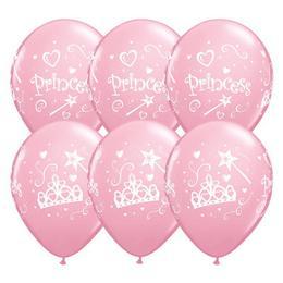 Princess Pink Lufi Kislányoknak, 28 cm, 6 db