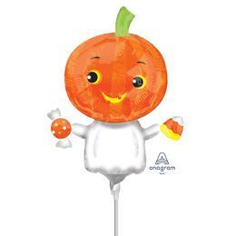 Pumpkin Ghost - Tökfej Szellem Mini Shape Fólia Lufi