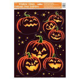 Pumpkin Grin Halloween Parti Ablakdekoráció Halloweenre