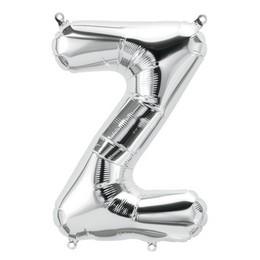 Ezüst 'Z' Betű Héliumos Fólia Lufi - 86 cm