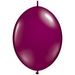 12 inch-es Sparkling Burgundy Quick Link (Jewel) Lufi (50 db/csomag)