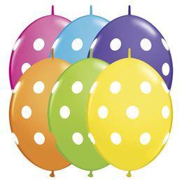 12 inch-es Big Polka Dots Tropical Assortment Quick Link Lufi (50 db/csomag)
