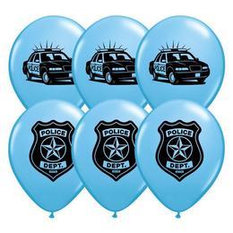 11 inch-es Police Department (Rendőrség) Pale Blue Lufi (6 db/csomag)