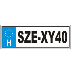 Vicces Rendszámtábla - SZE-XY40 felirattal Szülinapra
