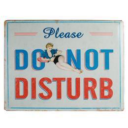 Retro Fém Tábla, Nagy - Do Not Disturb