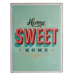 Retro Fém Tábla, Álló - Home Sweet Home
