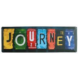 Retro Fém Tábla, Fekvő - Journey