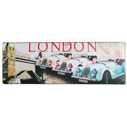 Retro Fém Tábla, Fekvő - London
