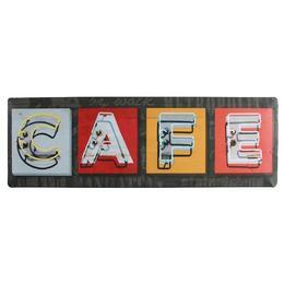 Retro Fém Tábla, Fekvő - Cafe