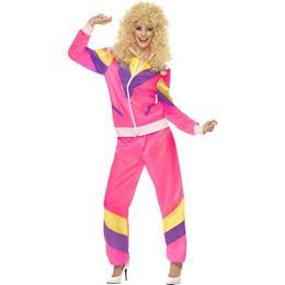80-as Évekbeli Női Pink Melegítő Jelmez - M-es