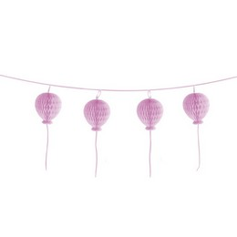 Rózsaszín Lufi Méhsejt Dekoráció, 180 cm-es