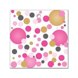 Rózsaszín Pasztell Konfettis Léggömbsúly