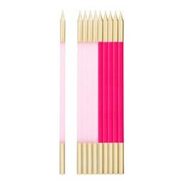 Rózsaszín Pink Arany Szülinapi Gyertya