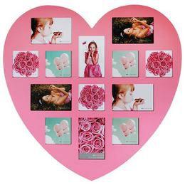 Rózsaszín Szív Alakú Fényképkeret