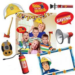 Tűzoltó Sam Gyermekfotózás Kiegészítő Szett a különleges kép - 9 db-os