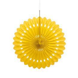 Sárga Legyező Függő Dekoráció - 41 cm-es