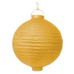 Világító Led-es Lampion, Sárga Színű, 20 cm-es