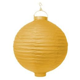 Sárga Világító Gömb Lampion - 20 cm