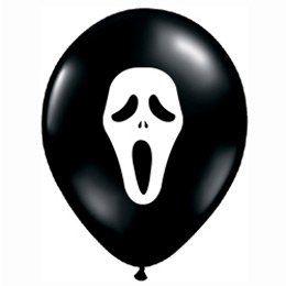 11 inch-es Sikoly - Ghost Face Black Lufi (6 db/csomag)