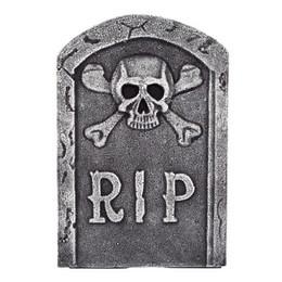 Sírkő Dekoráció Halloween-re - RIP Koponyás