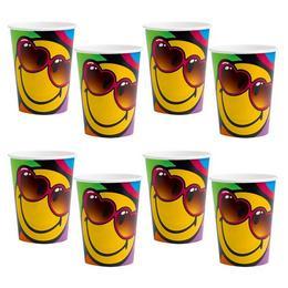 Smiley Express Mókás Papír Parti Pohár - 266 ml, 8 db-os