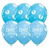 11 inch-es Baby Boy Footprints & Hearts Lufi Babaszületésre (25 db/csomag)