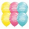 11 inch-es Birthday Pennants and Dots Szülinapi Lufi (6 db/csomag)