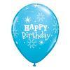 11 inch-es Birthday Sparkle Robin's Egg Blue Szülinapi Lufi (6 db/csomag)