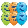 11 inch-es Fun Sharks! Special Assortment Lufi (25 db/csomag)
