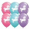 11 inch-es Whimsical Unicorn Special Assortment Lufi (6 db/csomag)