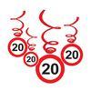 20-as Sebességkorlátozó Születésnapi Függődekoráció - 6 db-os