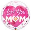 22 inch-es Love You Mom Pink Bubble Lufi Anyák Napjára