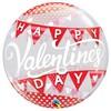 22 inch-es Pöttyös és Zászlófüzér Mintás - Valentine's Day Banner Bubble Lufi Valenti