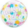 Welcome Baby Héliumos Buborék Lufi, 56 cm