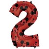 26 inch-es Mickey Egér - Mickey Mouse Mintás Number 2 Red Számos Fólia Lufi