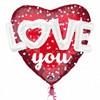 36 inch-es 3D - Love Hearts & Dots Szív Super Shape Fólia Lufi